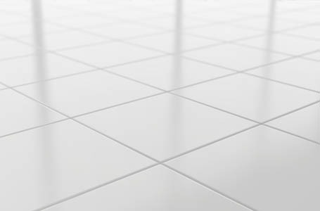 clean white tile