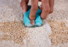 DIY carpet cleaning wine in carpet